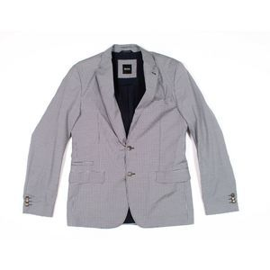 Hugo Boss Gingham Plaid Cotton Blazer Sport Coat